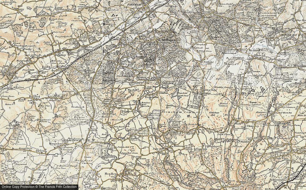 Old Map of Frensham, 1897-1909 in 1897-1909