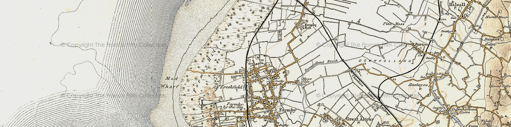 Old map of Woodvale Airfield in 1902-1903