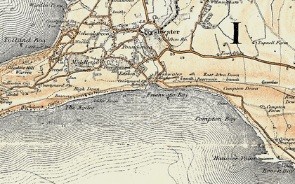 Old map of Freshwater Bay in 1899-1909