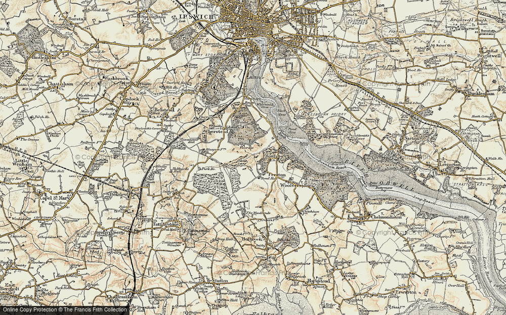 Old Map of Freston, 1898-1901 in 1898-1901