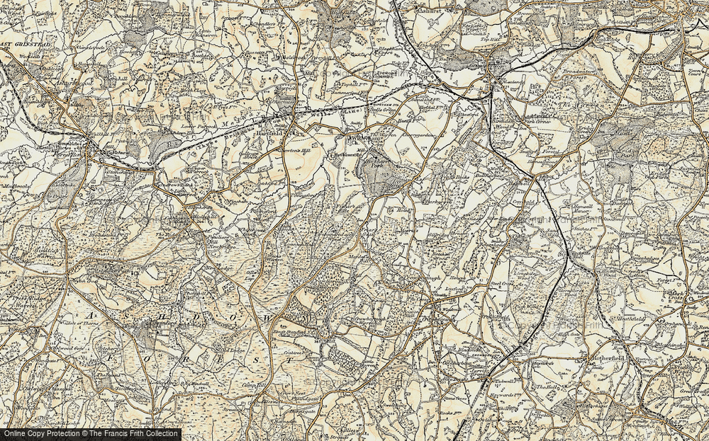 Old Map of Friar's Gate, 1898 in 1898