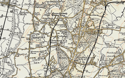Old map of Friday Hill in 1897-1898