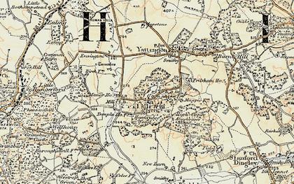 Old map of Frilsham in 1897-1900
