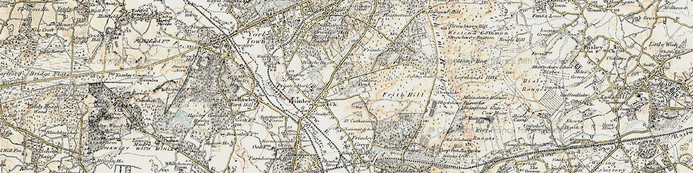 Old map of Tomlin's Pond in 1897-1909