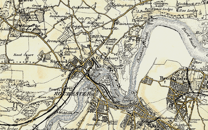 Old map of Frindsbury in 1897-1898