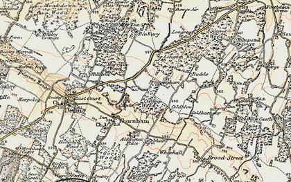 Old map of Whitehall in 1897-1898