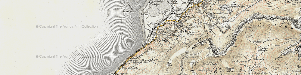 Old map of Friog in 1902-1903