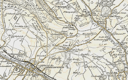 Old map of Frithsden in 1898