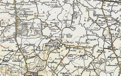 Old map of Frittenden in 1897-1898
