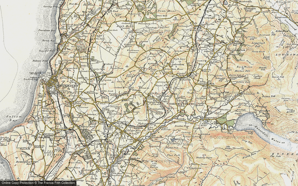 Old Map of Historic Map covering Acrewalls in 1901-1904