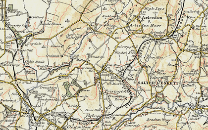 Old map of Acrewalls in 1901-1904