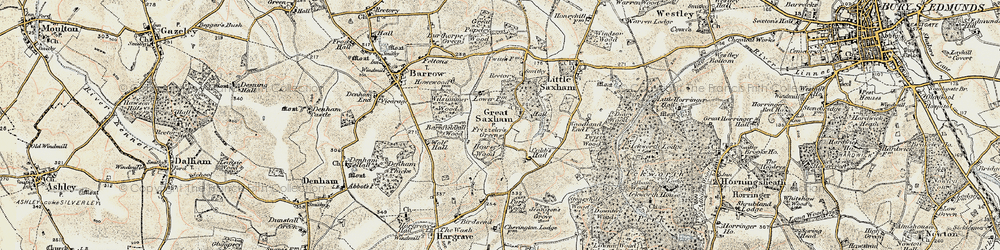 Old map of Wolfe Hall in 1899-1901