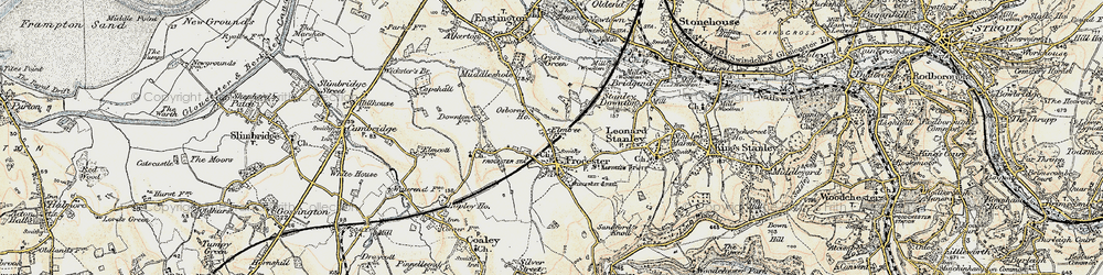 Old map of Frocester in 1898-1900