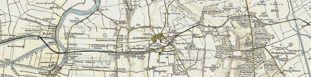 Old map of Frodingham in 1903