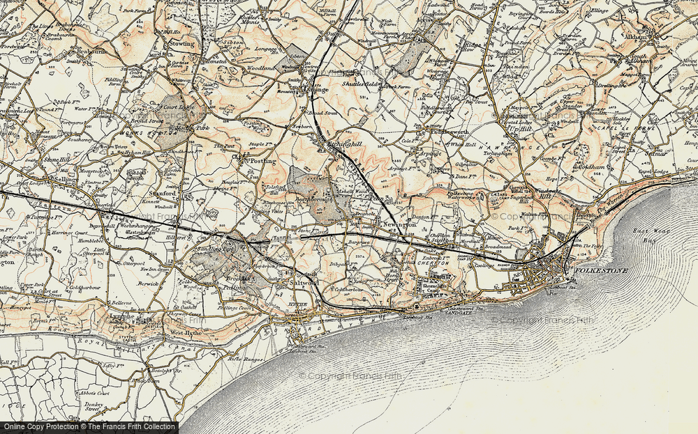 Old Map of Historic Map covering Ashley in 1898-1899