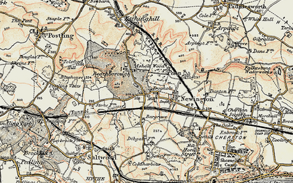 Old map of Bargrove in 1898-1899