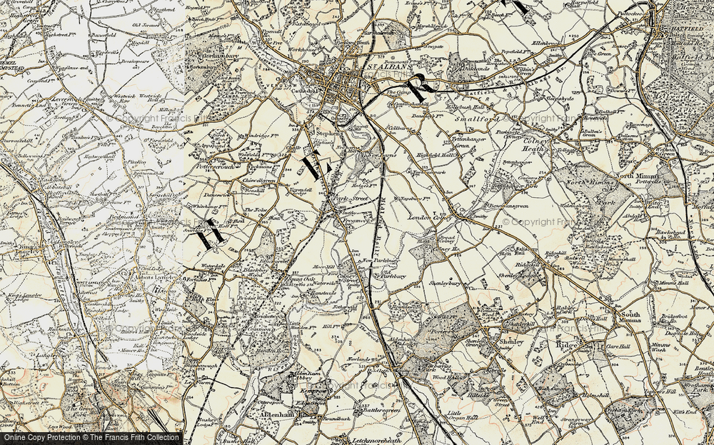Old Map of Frogmore, 1897-1898 in 1897-1898