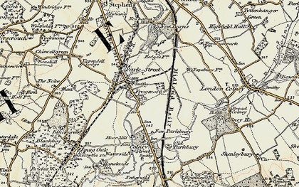 Old map of Frogmore in 1897-1898