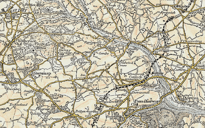Old map of Frogpool in 1900