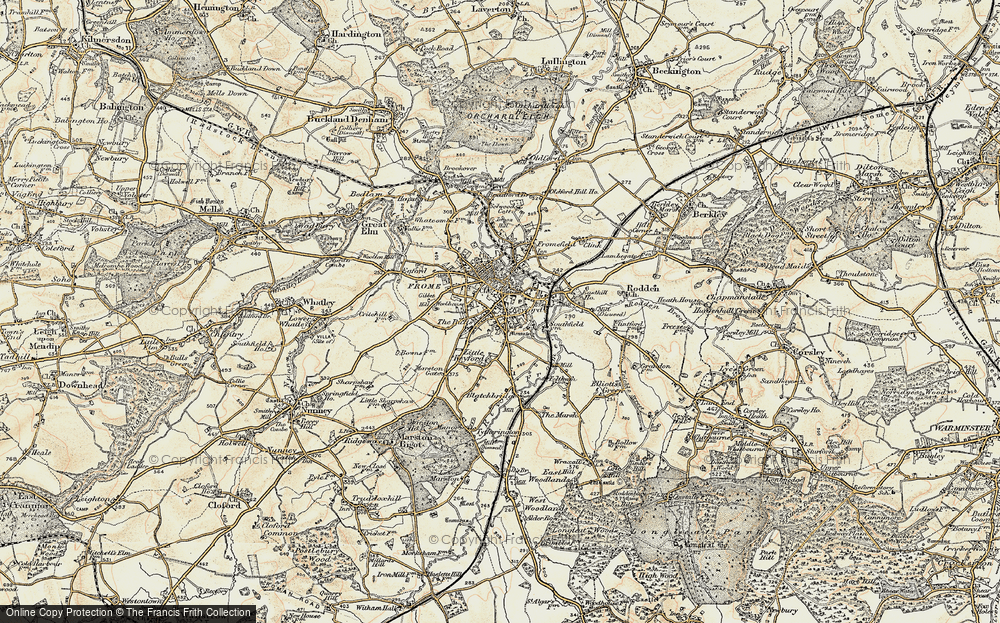 Old Map of Frome, 1898-1899 in 1898-1899