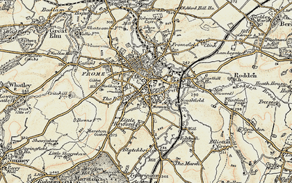 Old map of Frome in 1898-1899