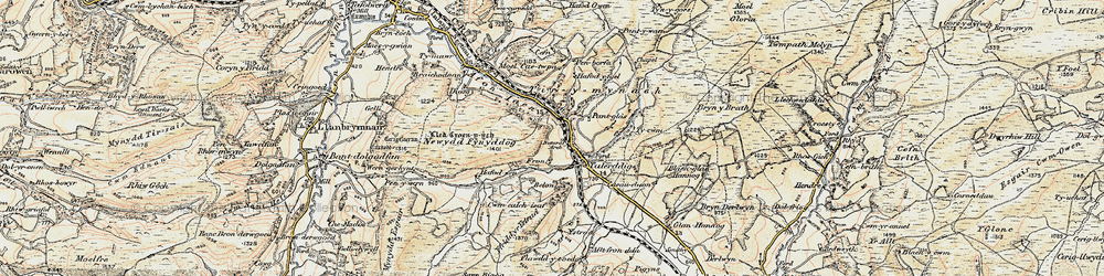 Old map of Ystrad in 1902-1903