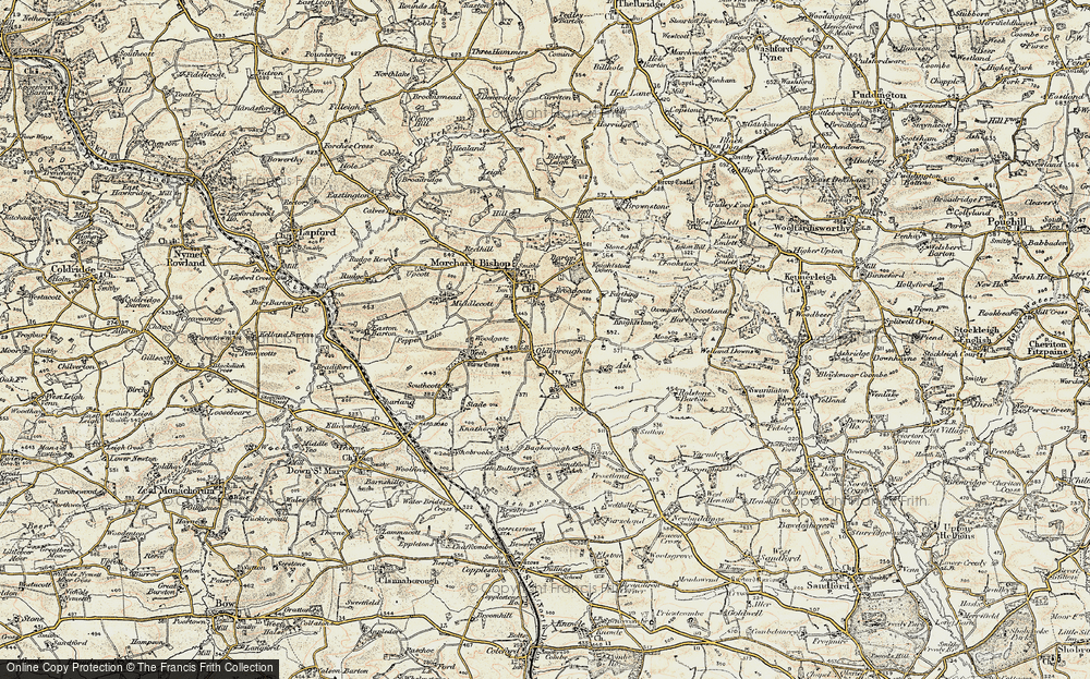 Old Map of Historic Map covering Aish in 1899-1900