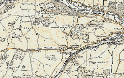 Old map of Froxfield in 1897-1899