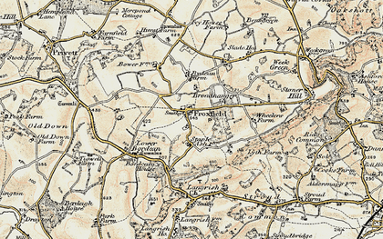 Old map of Froxfield Green in 1897-1900