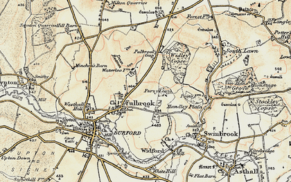 Old map of Widley Copse in 1898-1899