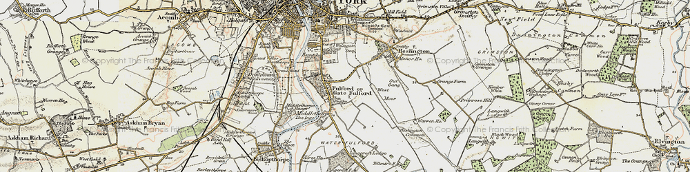 Old map of Fulford in 1903