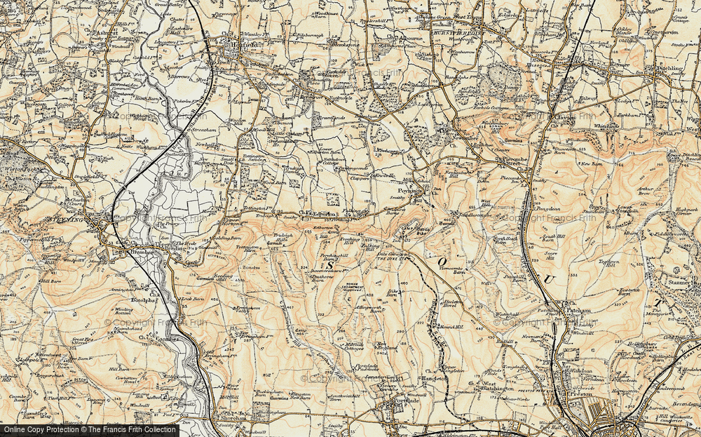 Old Map of Fulking, 1898 in 1898