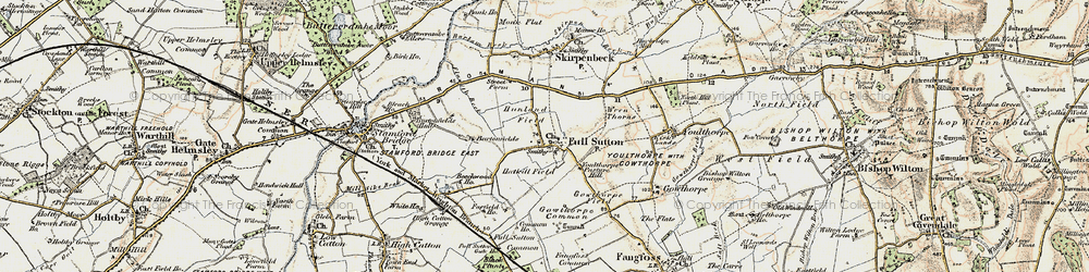 Old map of Winter Beck in 1903-1904