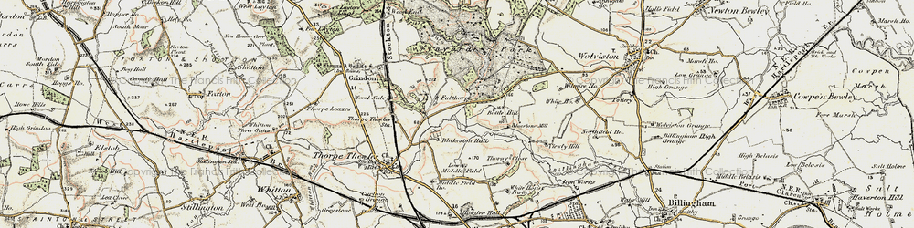 Old map of Wynyard Park in 1903-1904