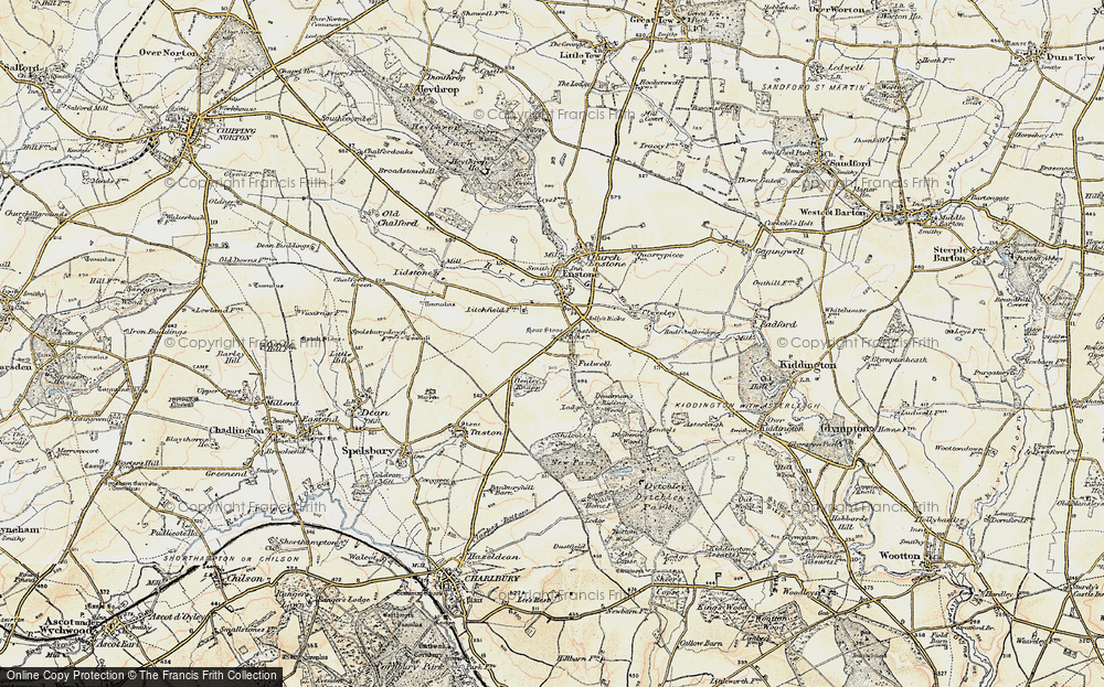 Old Map of Fulwell, 1898-1899 in 1898-1899