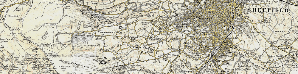 Old map of Whiteley Wood in 1902-1903