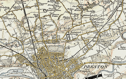 Old map of Fulwood in 1903