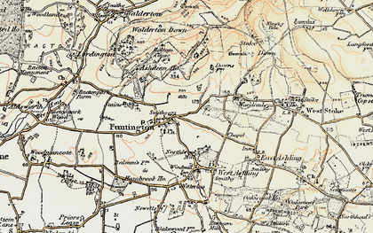 Old map of Adsdean Ho in 1897-1899