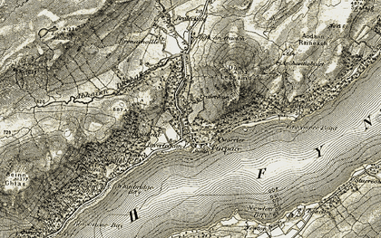Old map of Furnace in 1906-1907