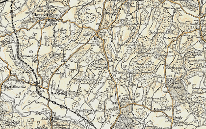 Old map of Latchetts in 1898