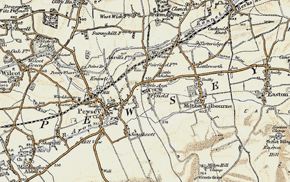 Old map of Fyfield in 1897-1899