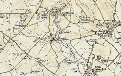 Old map of Tiltup in 1898-1899