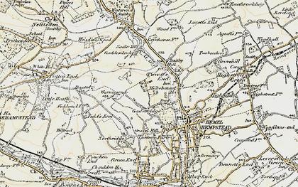 Old map of Gadebridge in 1898