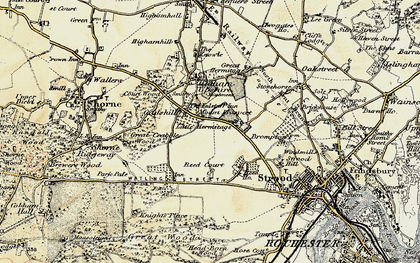 Old map of Gadshill in 1897-1898