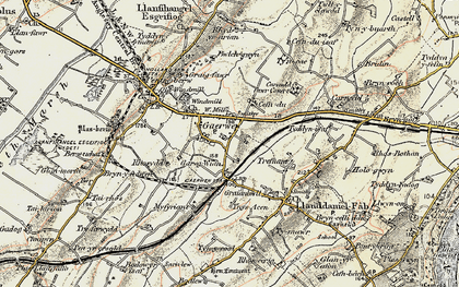 Old map of Gaerwen in 1903-1910