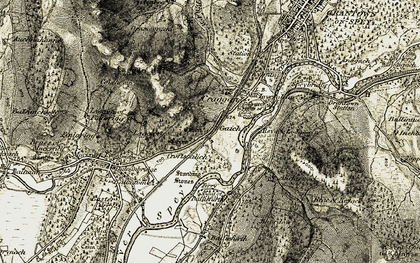 Old map of Wester Craggan in 1908-1911