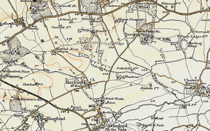 Old map of Woodlands in 1897-1899