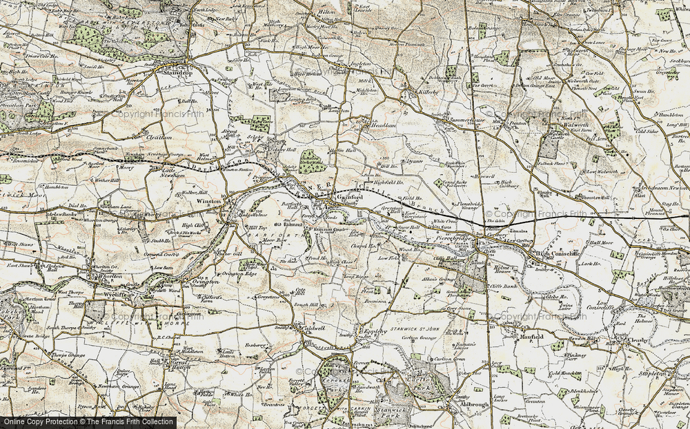 Old Map of Gainford, 1903-1904 in 1903-1904