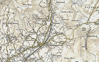Old map of Aiggin Stone in 1903