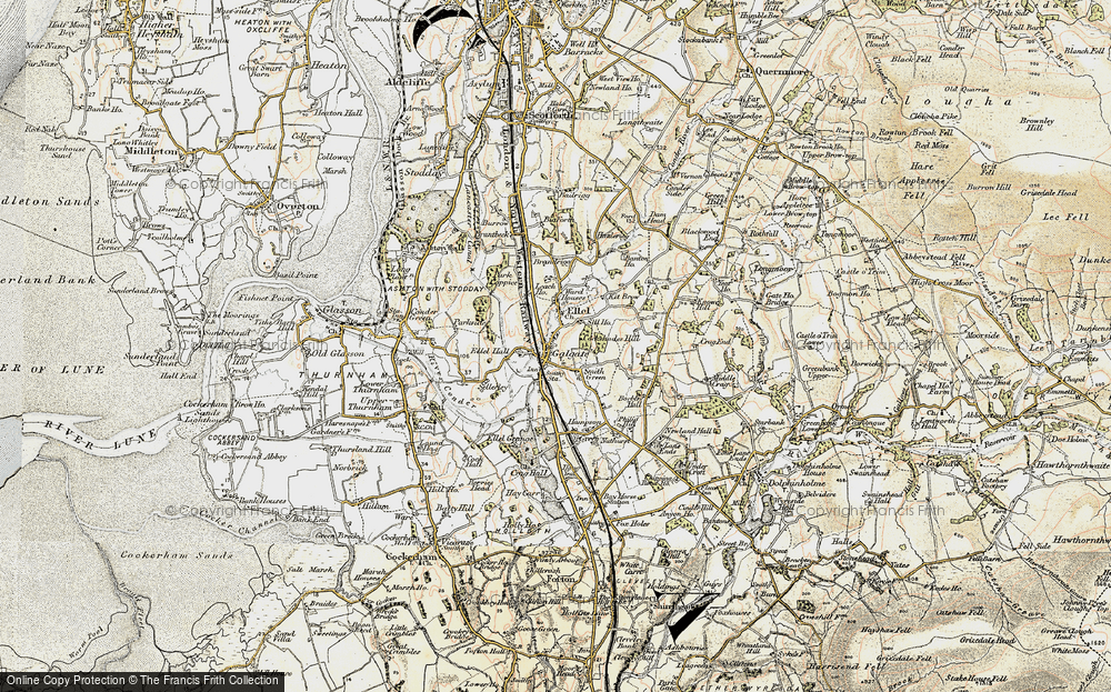 Old Map of Galgate, 1903-1904 in 1903-1904